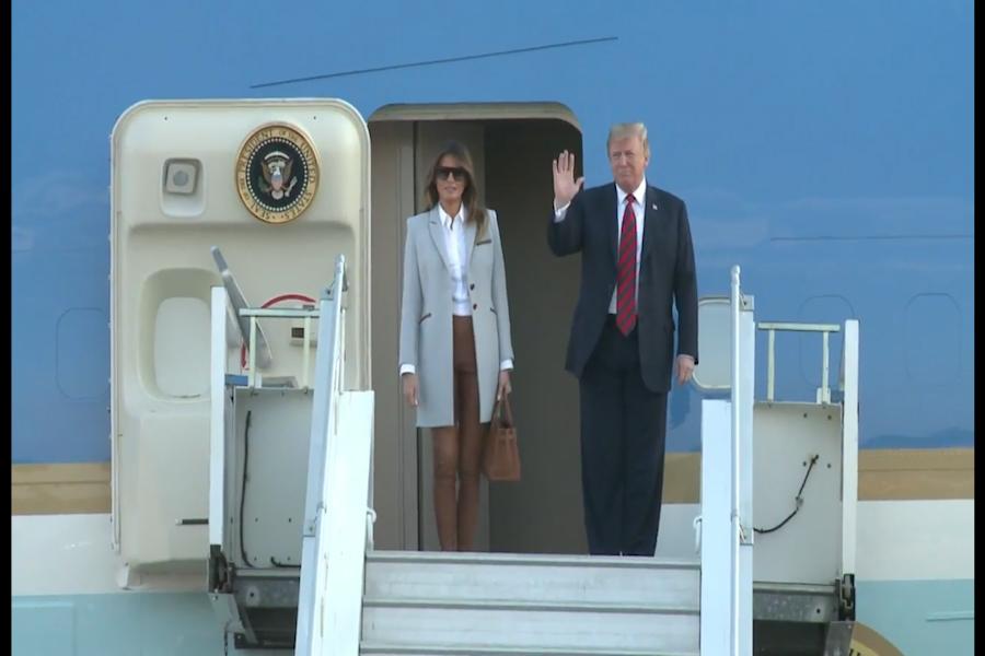 Finlandia: Trump llegó a Helsinki en víspera de cumbre histórica con Putin