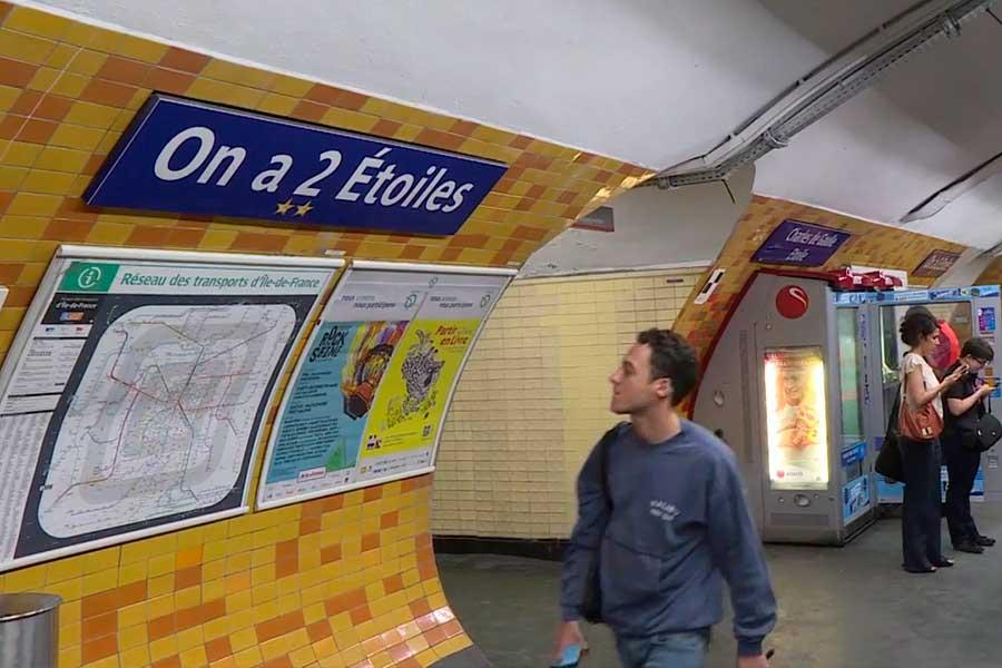 El metro de París renombra estaciones tras victoria en Mundial
