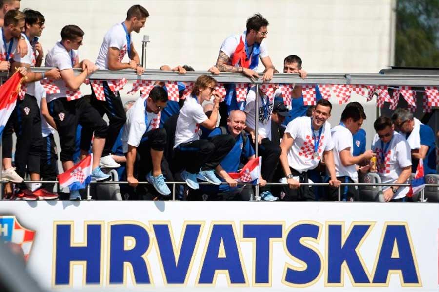 Selección de Croacia recibida con fiesta a su regreso al país