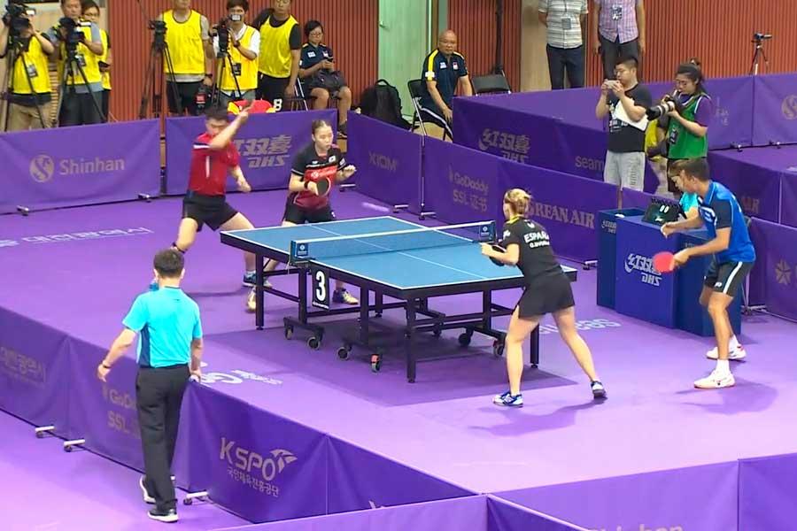 Las dos Coreas participan juntas en torneo de tenis de mesa
