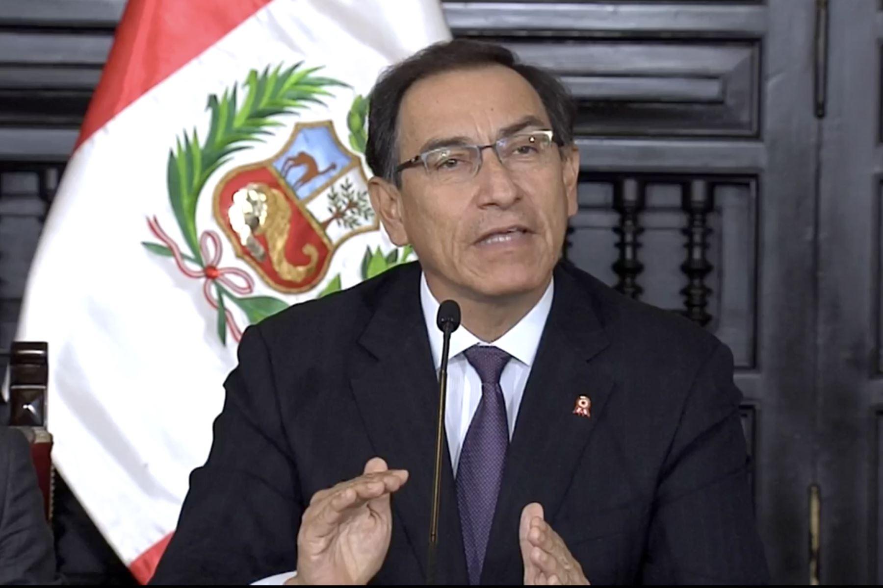 Vizcarra: el país demanda el cese de los miembros del CNM