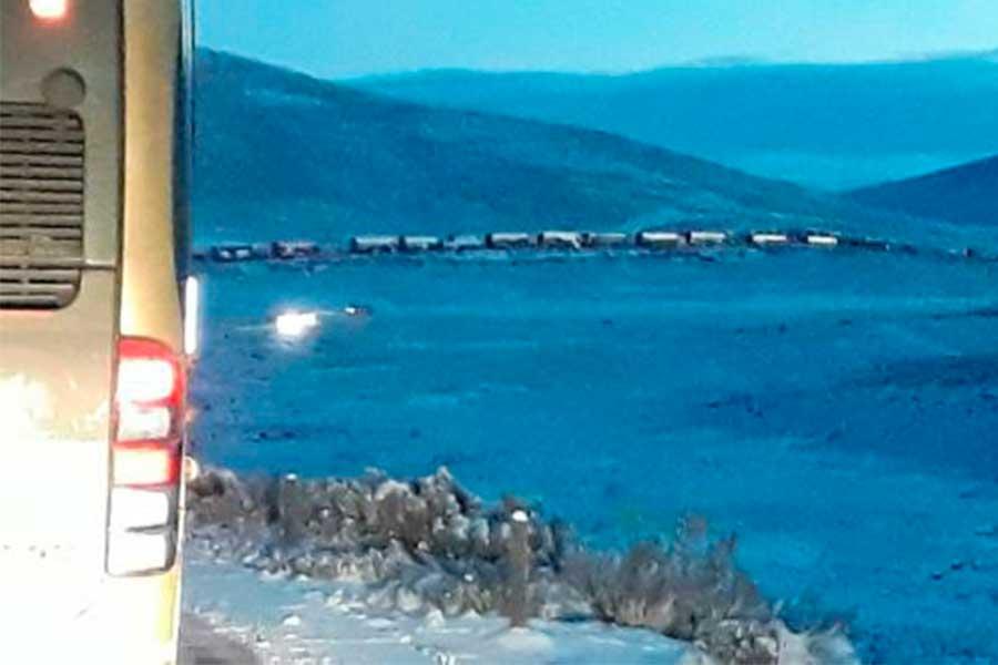 Nevada en carretera Arequipa-Puno impide libre tránsito vehicular