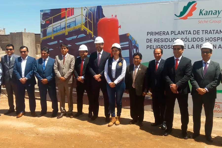 Arequipa construye planta de tratamiento de residuos hospitalarios