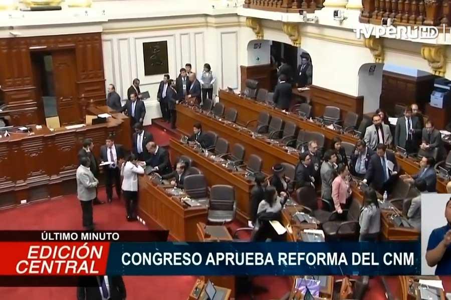 Congreso aprobó reforma del CNM