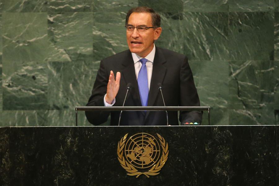 Vizcarra: Perú promoverá resolución para reforzar lucha contra corrupción