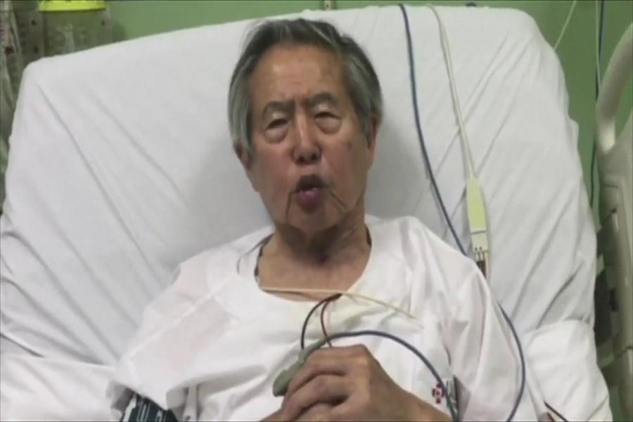 Fujimori critica arresto de Keiko y pide unión a sus hijos
