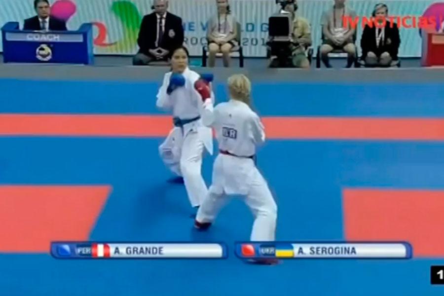 Peruana Alexandra Grande obtuvo medalla de plata en Premier League de Karate en Japón