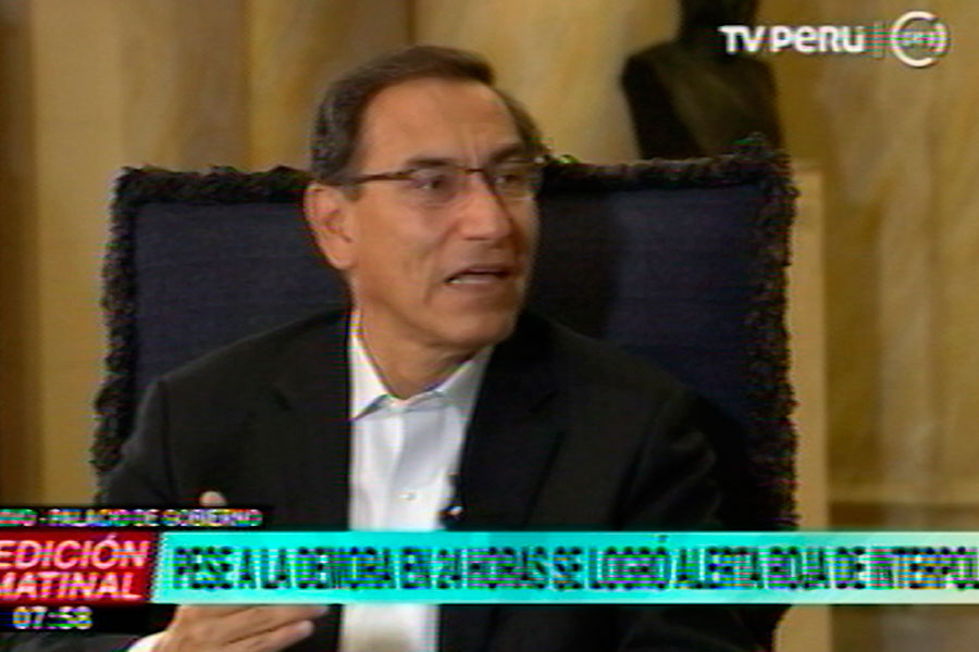 Presidente Vizcarra confirma captura de César Hinostroza en Madrid