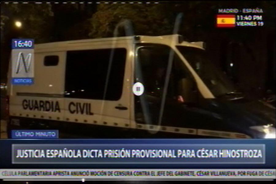 César Hinostroza: imágenes de su traslado tras dictarle prisión provisional