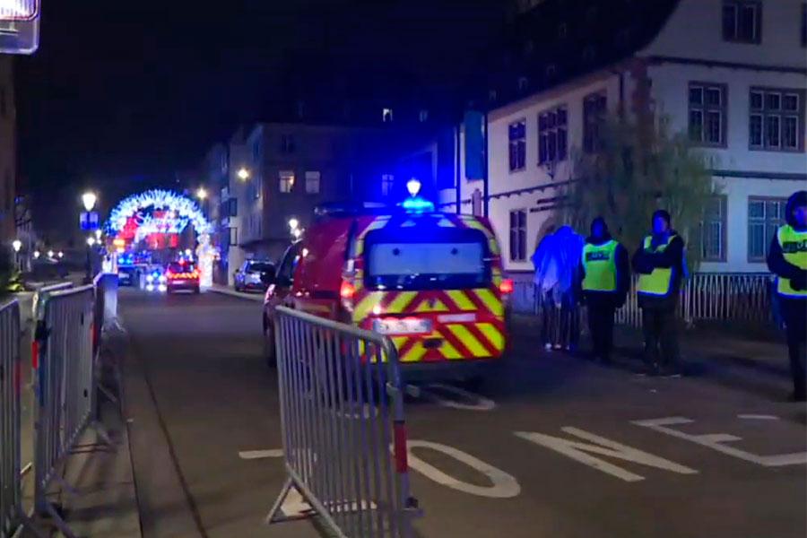 Dos muertos y 11 heridos en tiroteo en mercado de Navidad de Estrasburgo