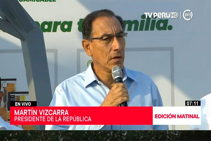 Presidente Vizcarra anuncia inversión por US$ 3,000 millones