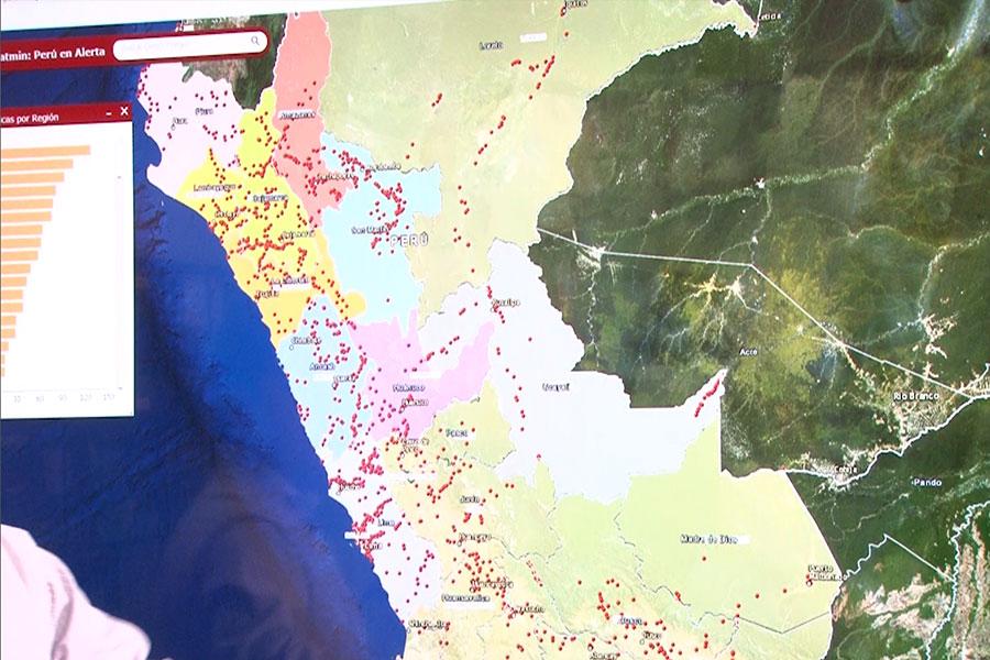 """Web """"Perú en Alerta"""" para adoptar medidas preventivas ante lluvias"""