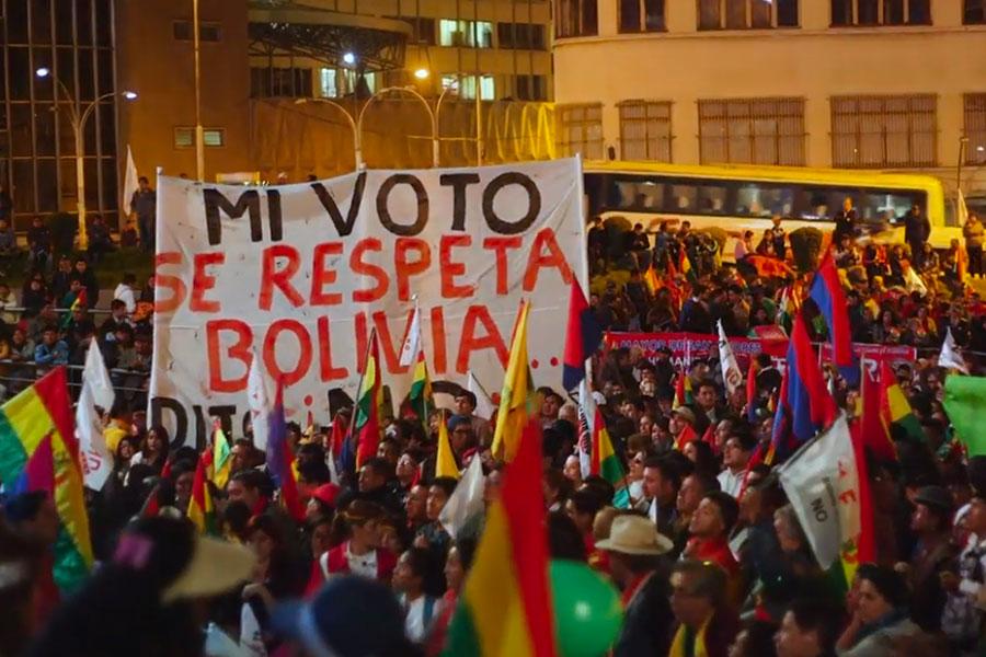 Bolivia: ciudadanos protestan contra la candidatura de Evo Morales