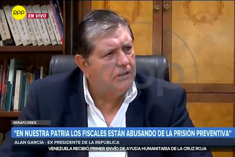 Alan García: esta fue la última entrevista ofrecida a RPP
