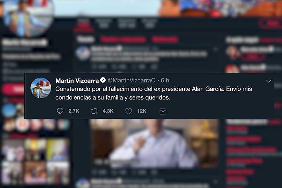Alan García: personalidades expresan condolencias por twitter