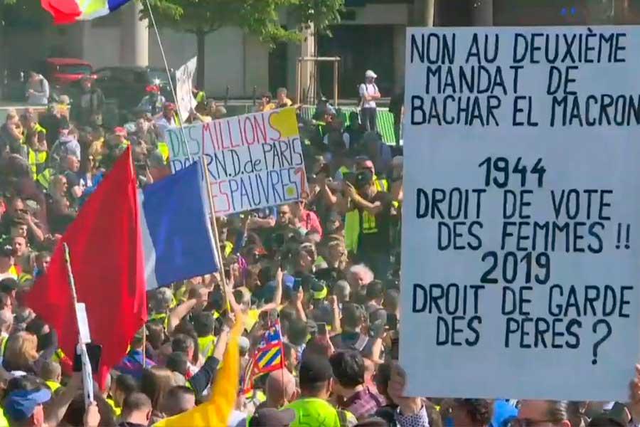 """Tensión en París por protestas de los """"chalecos amarillos"""""""