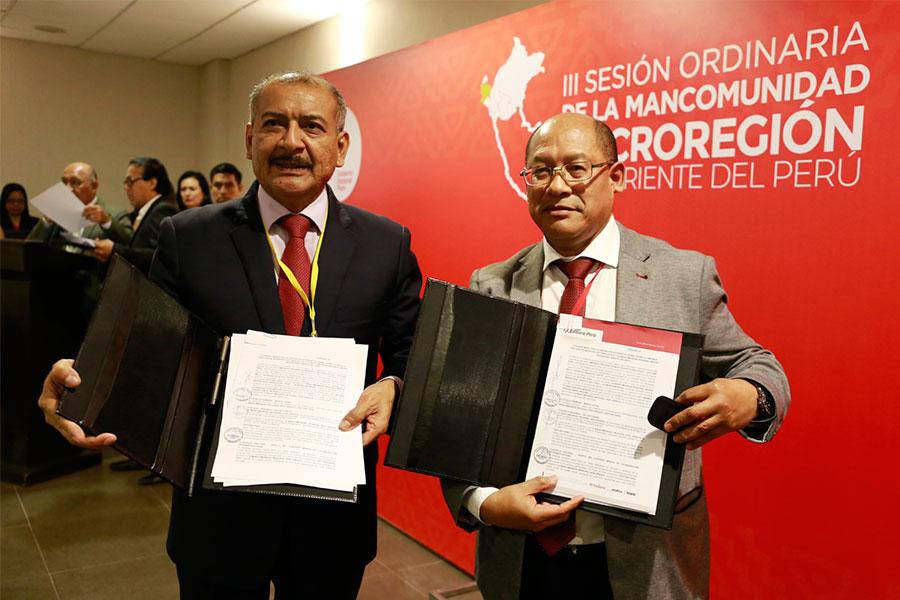 Editora Perú suscribió convenio con Mancomunidad Regional Macro Región Nor Oriente