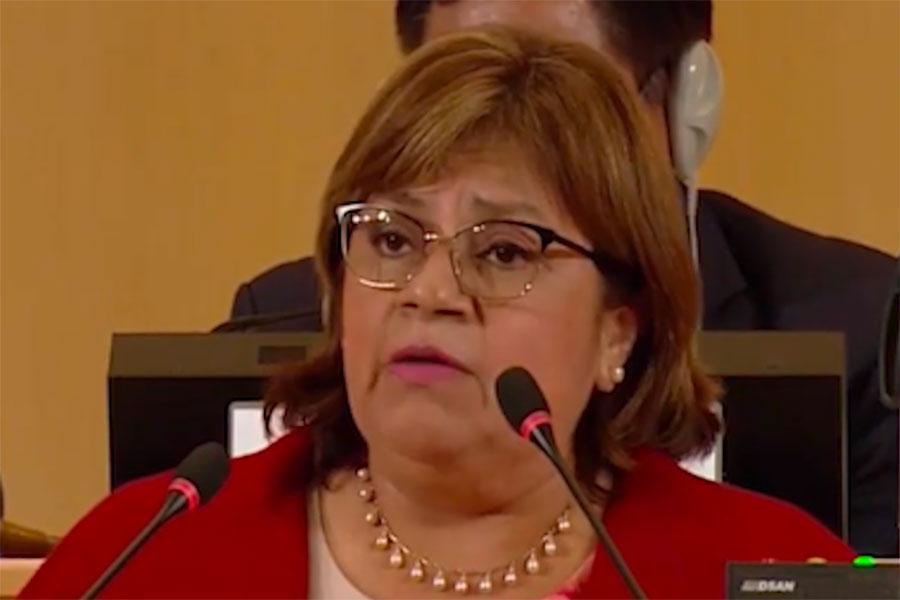 Ministra de salud destaca logros del sector en la 72ª Asamblea Mundial de la Salud