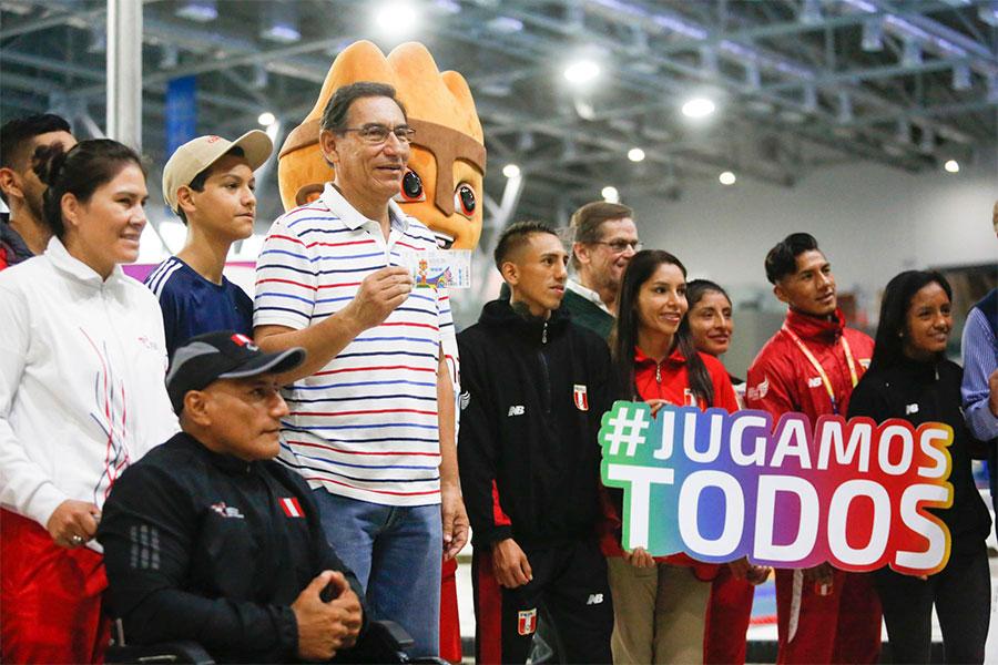 Vizcarra destaca trabajo en equipo para desarrollo de Juegos Panamericanos