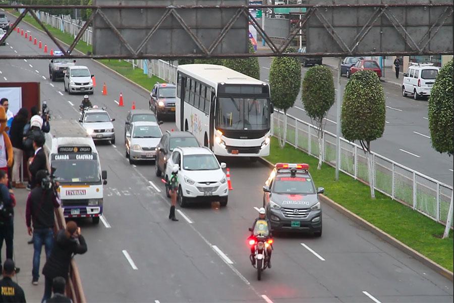 Lima 2019 y PNP realizaron Segunda prueba de carril en el Callao