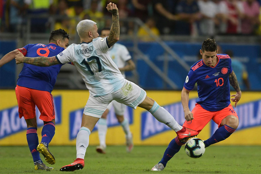 Copa América: Colombia derrotó a Argentina por 2 goles a 0