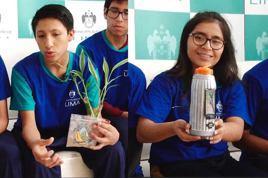 Escolares sorprenden en España con tomatodo que recarga celular
