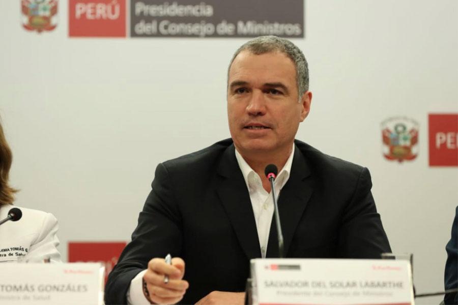 Del Solar: Confiamos en aprobación de los seis proyectos de reforma política