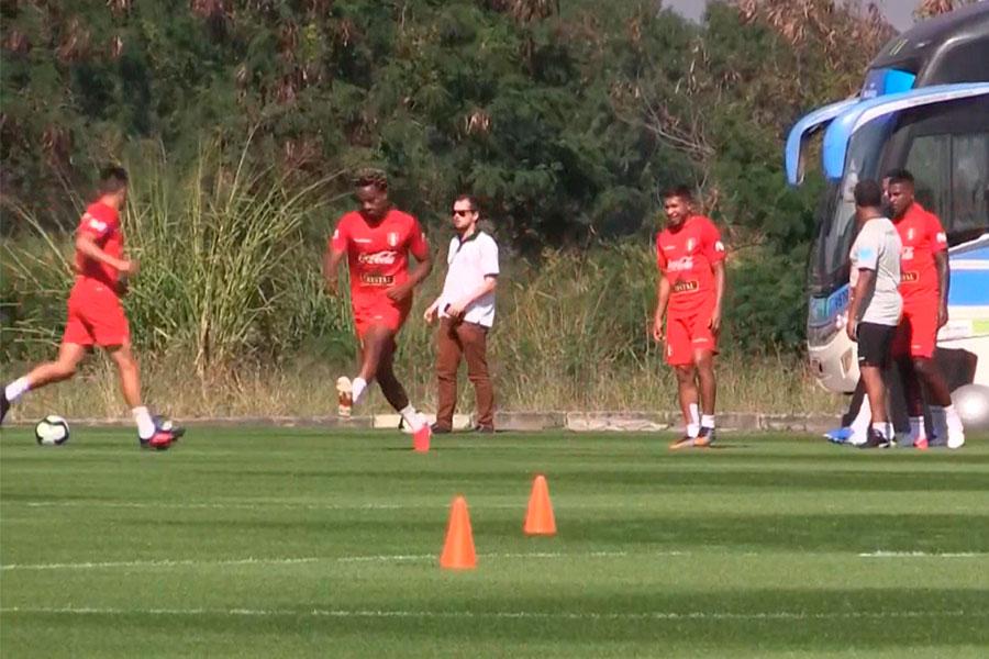 Imágenes del último entrenamiento de la Selección Peruana en Río de Janeiro