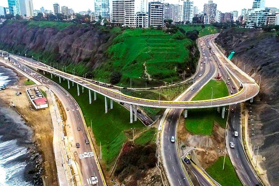 Viaducto Armendáriz conectará Miraflores y Barranco (dron)