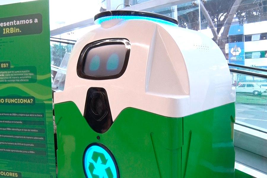 Conoce a IRBin, el robot que clasifica y recicla basura
