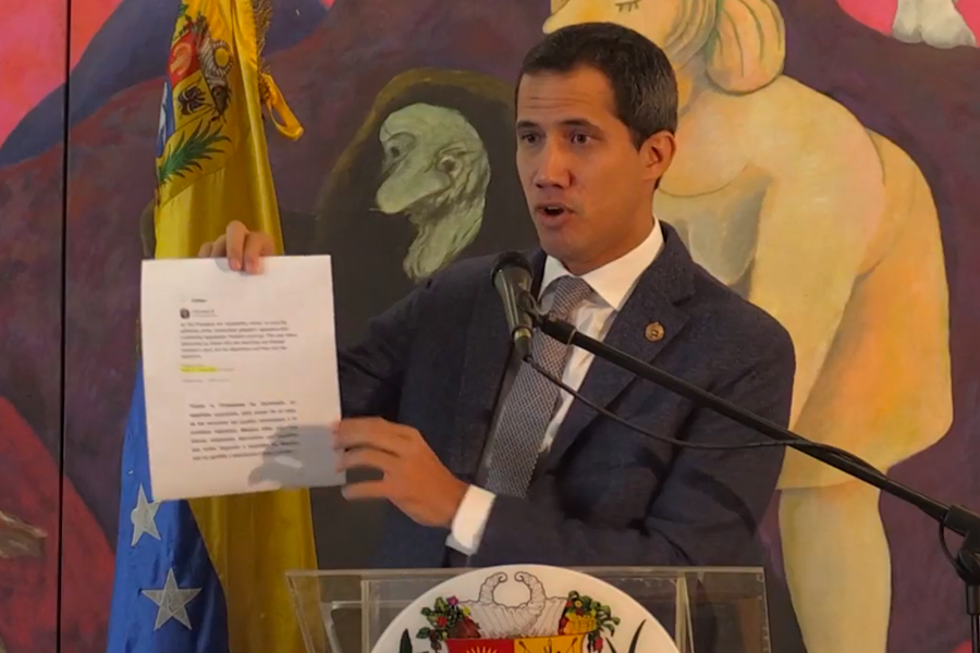 Guaidó asegura que reuniones de EEUU con Venezuela son para sacar a Maduro