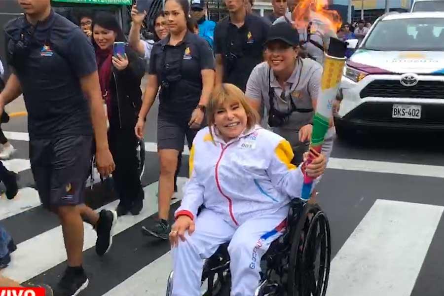Lima 2019: Gina Parker fue portadora de la Antorcha Parapanamericana