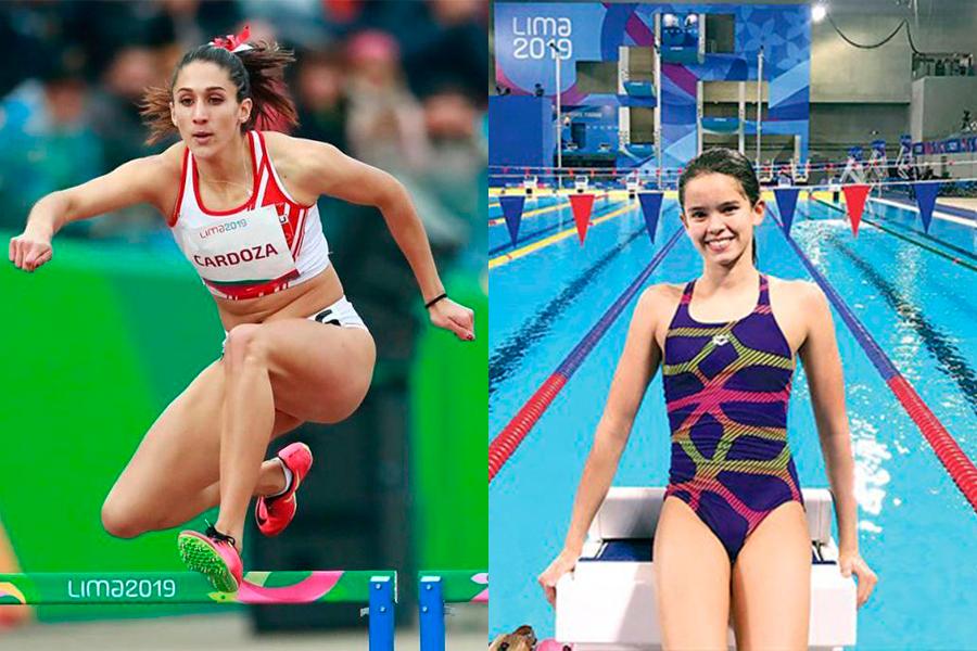 Alexia Sotomayor y Kimberly Cardoza apoyan los Juegos Escolares 2019