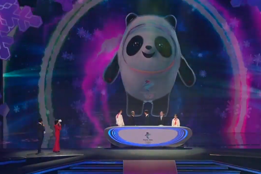 China: oso panda es mascota de Juegos de Invierno 2022