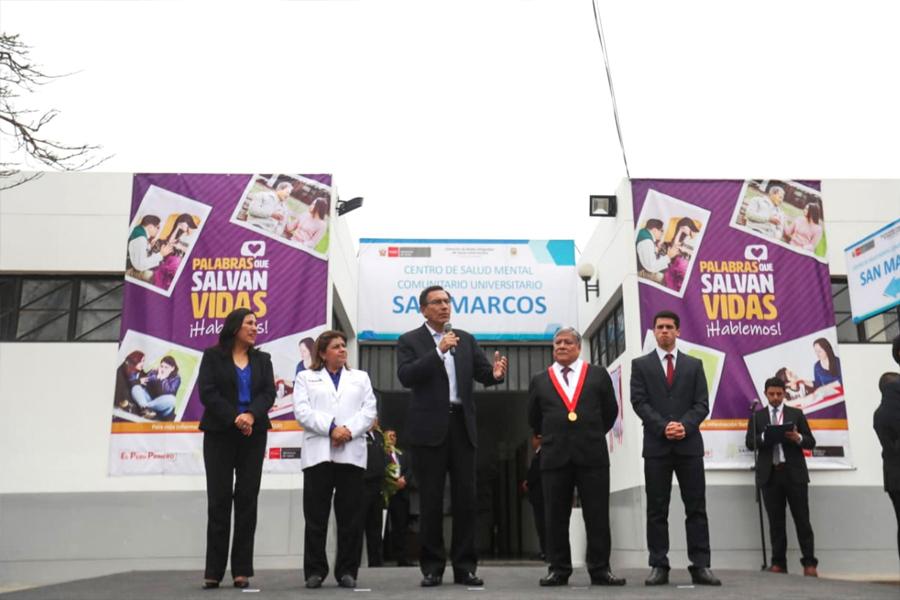 San Marcos: presidente inaugura primer Centro de Salud Mental Universitario