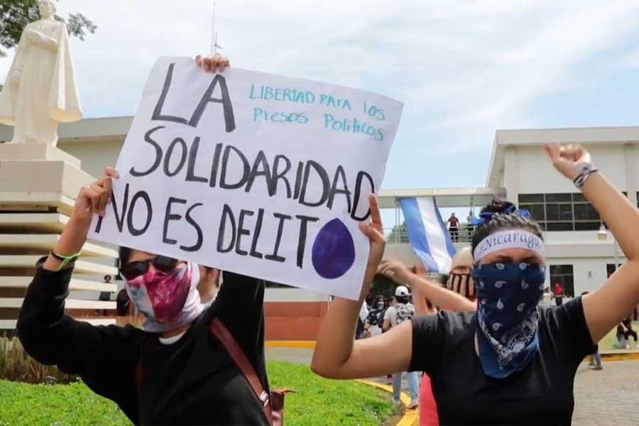 """Nicaragua: """"¡Solidaridad no es delito!"""", claman estudiantes al gobierno"""