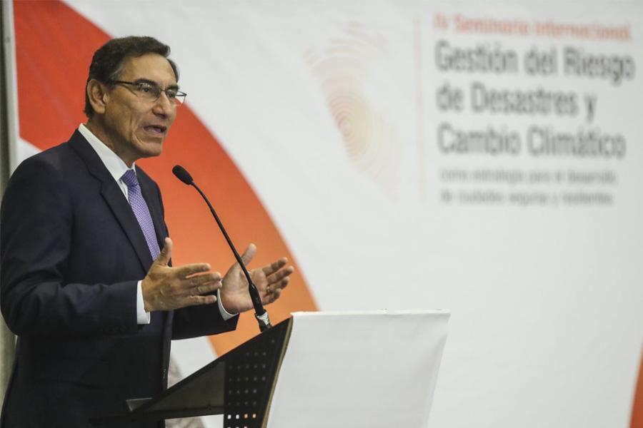 Presidente Vizcarra participó en seminario de gestión de riesgo y desastres naturales