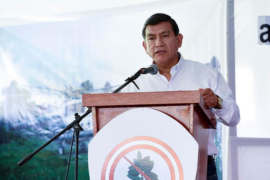 Ministro Morán: gobierno superó meta en erradicación de cultivos de hoja de coca