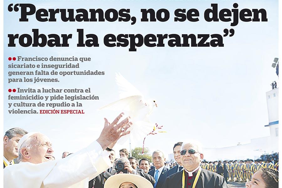 Así lo contamos: la visita del Papa Francisco al Perú
