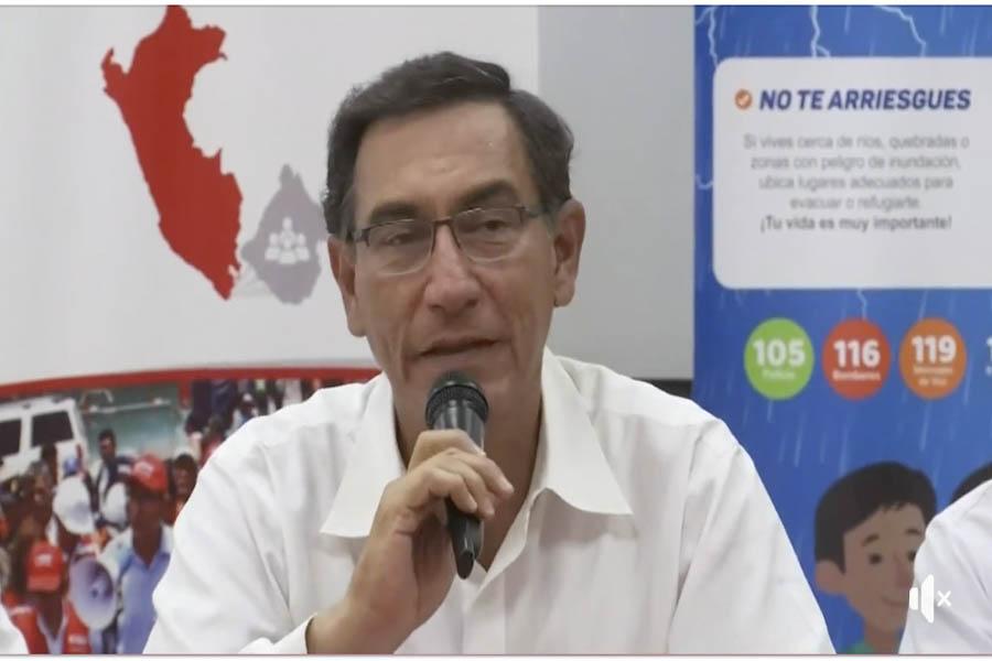 Presidente Vizcarra: trabajamos en conjunto para atender los daños
