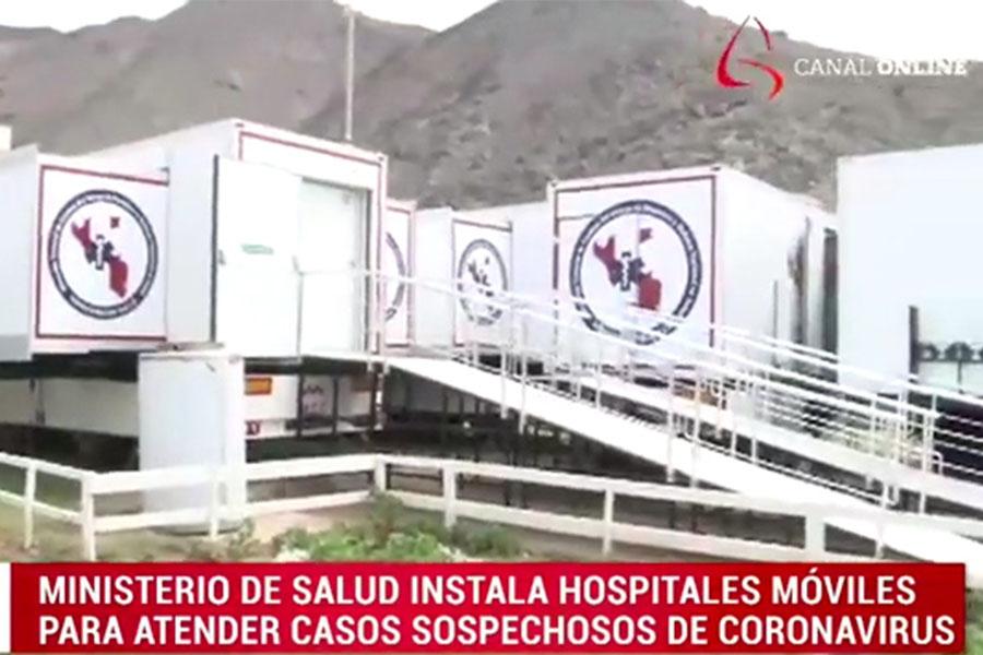 Coronavirus: Minsa instala hospitales móviles para atender casos sospechosos