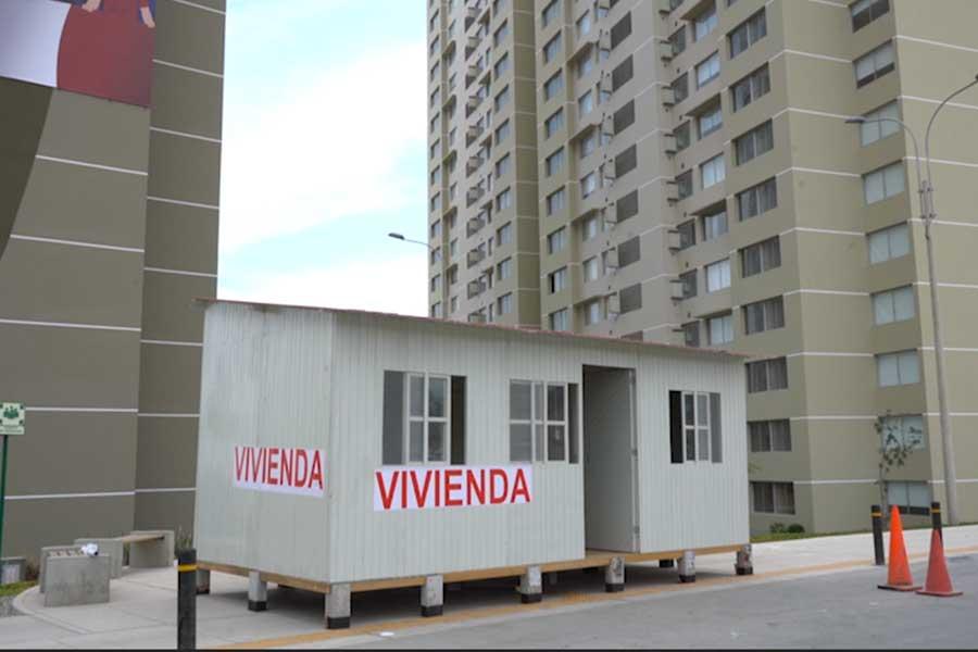 Coronavirus: instalan módulos temporales de vivienda en Villa Panamericana