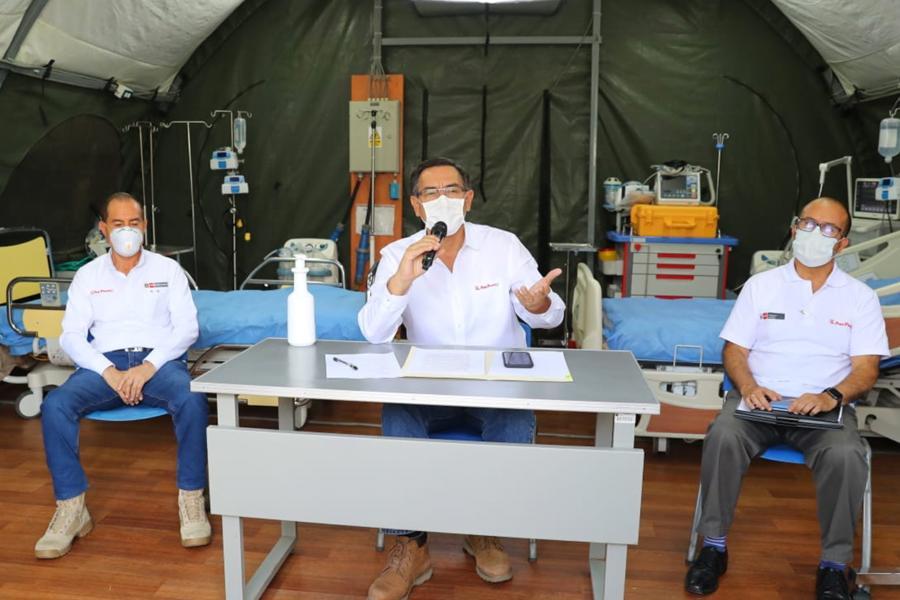Presidente Vizcarra confirma 1,746 casos de coronavirus en Perú