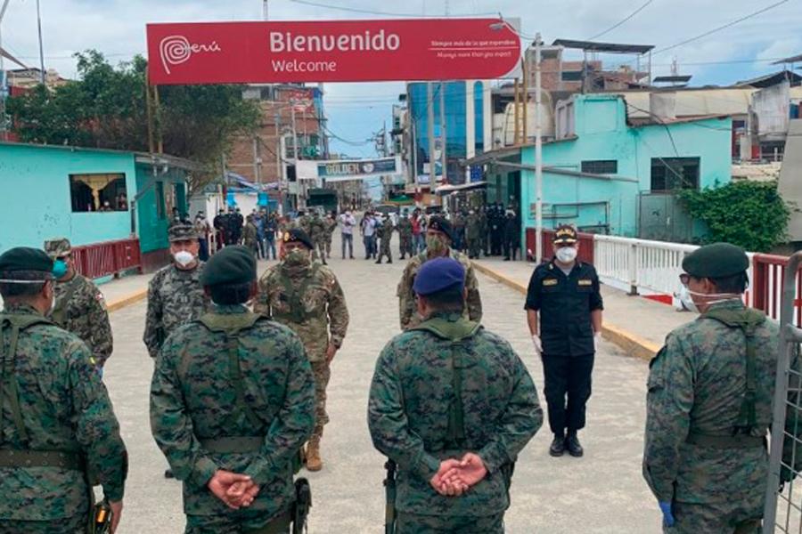 Coronavirus: encuentro entre FF.AA. de Ecuador y Perú en frontera
