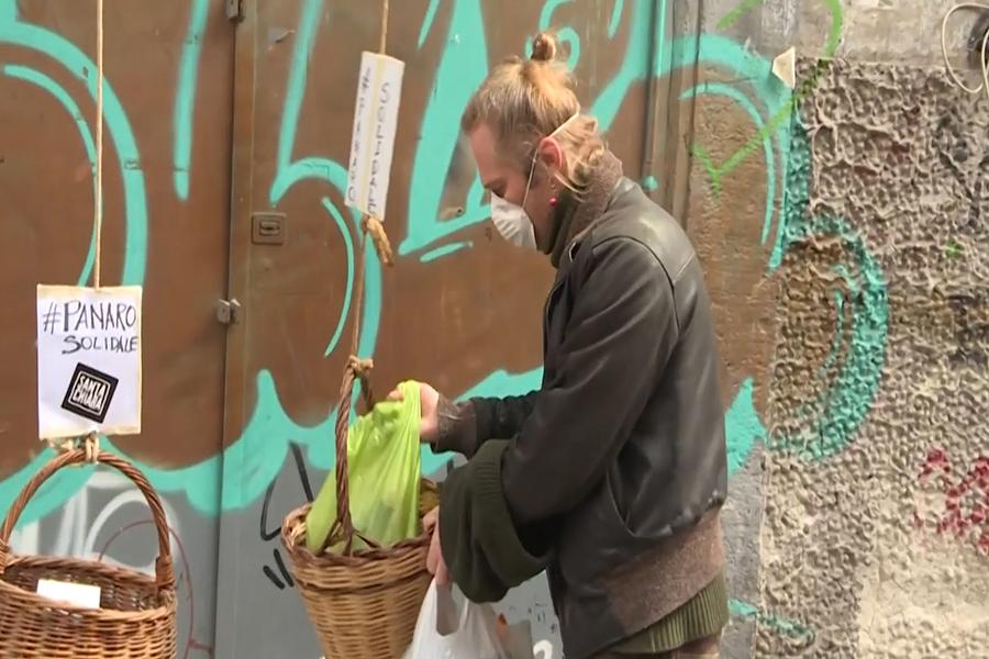 Iniciativa de solidaridad en Italia