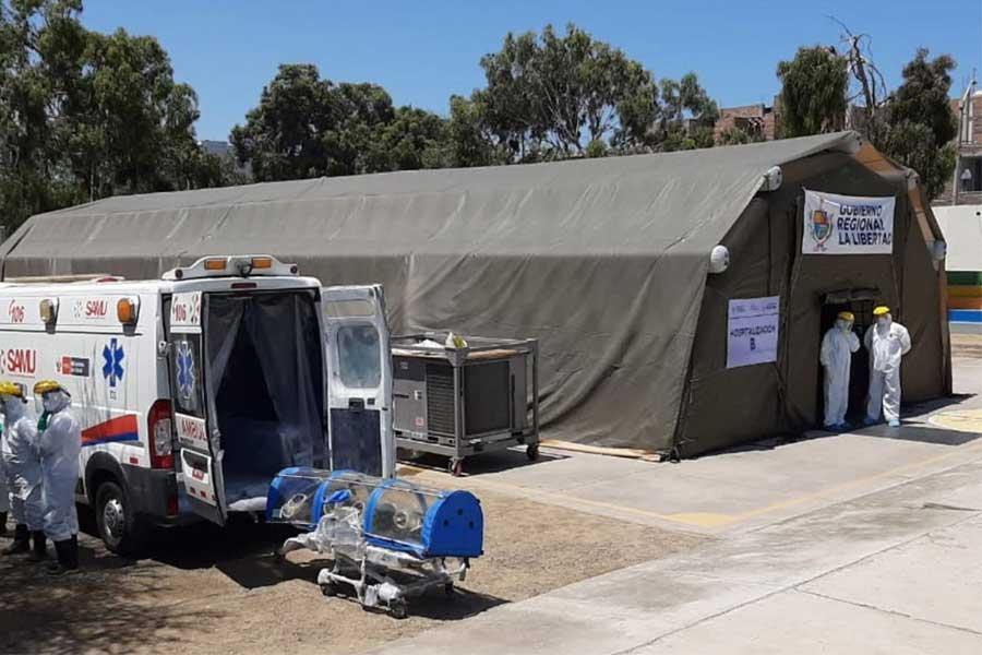 Coronavirus: La Libertad presenta hospital móvil