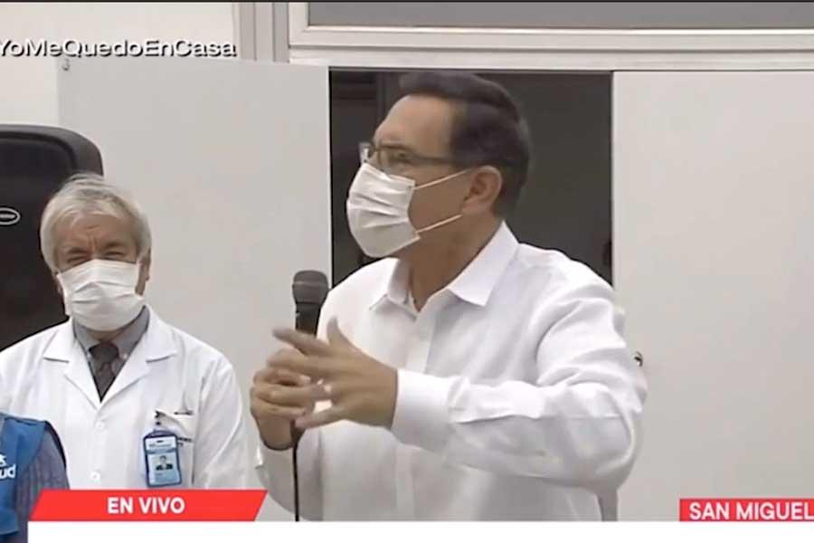 Vizcarra: La meta es contar con 20,000 camas para pacientes covid-19 a fines de junio