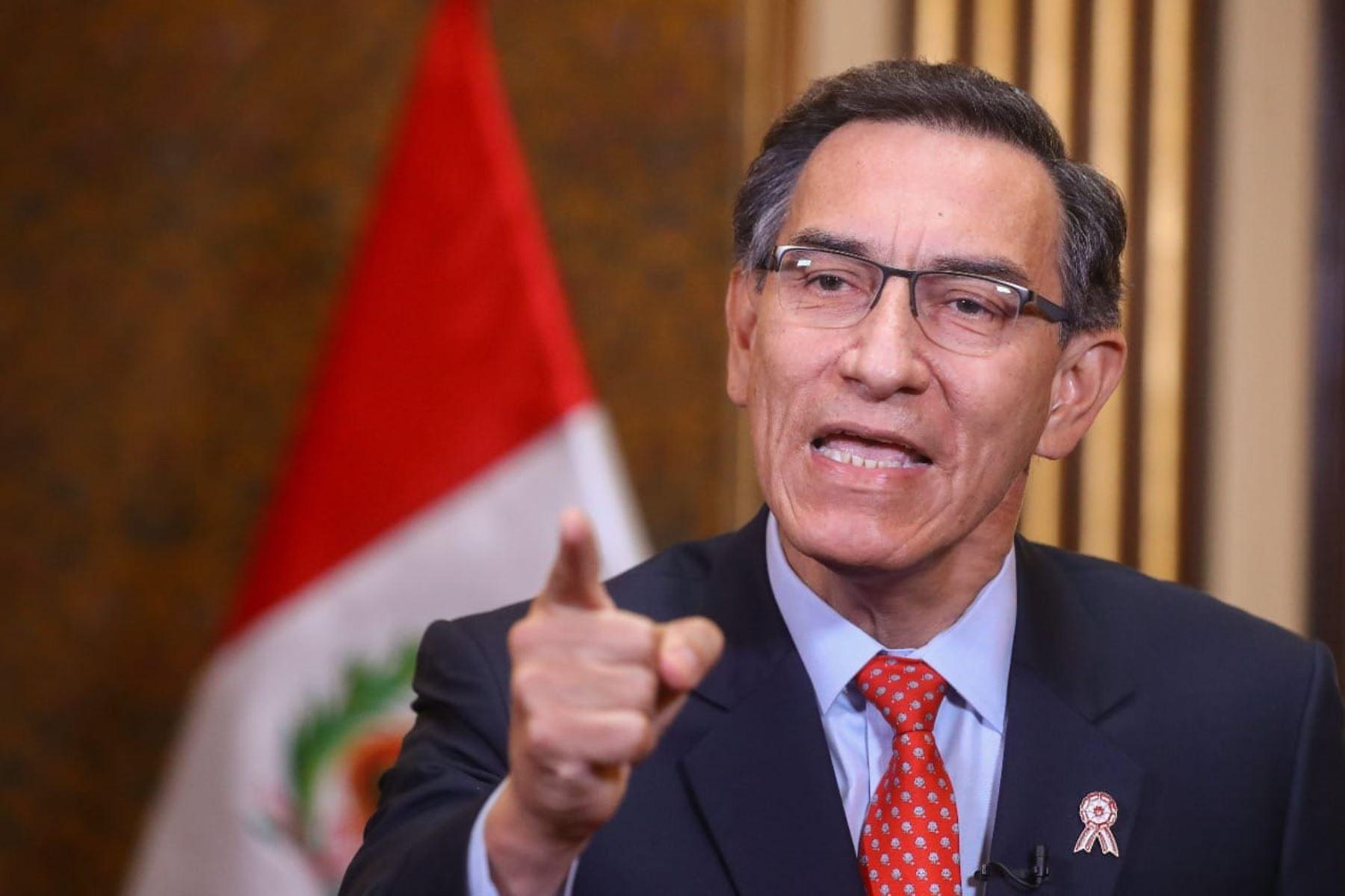 Presidente Vizcarra convocará a referéndum para eliminar la inmunidad parlamentaria
