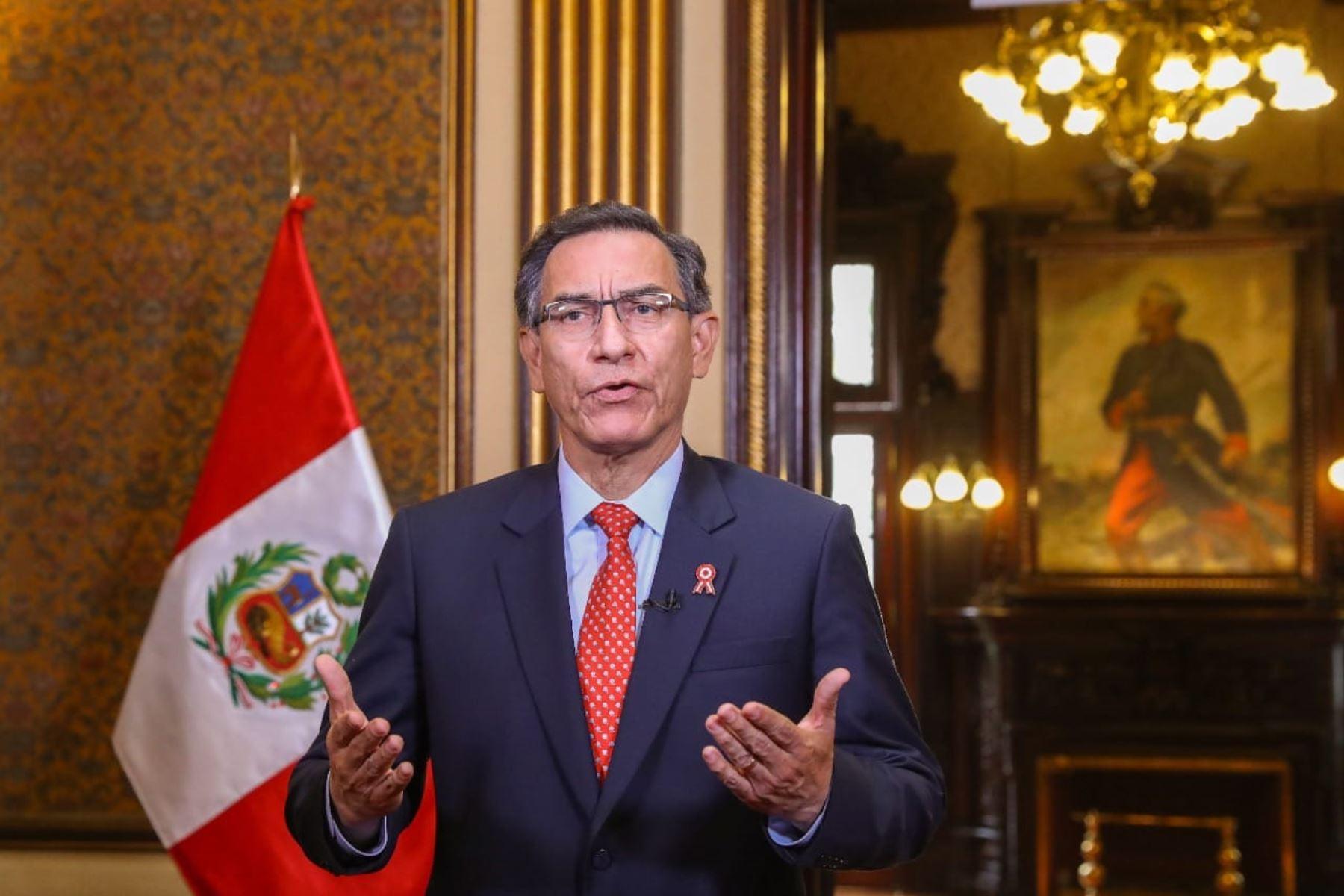 Mensaje a la Nación del presidente Martín Vizcarra