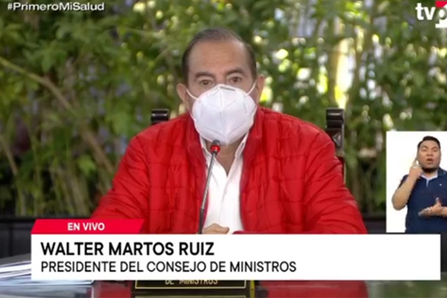 Walter Martos: voto de confianza es un compromiso con todos los peruanos